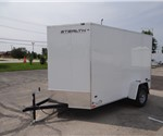 6' x 10' White Cargo Trailer with Rear Ramp Door