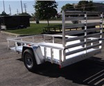 6' x 10' Open Aluminum Utility Trailer by ATC with Aluminum Rims