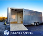 7'x18' ATC Sled Hauler Plus - Silver - Recent Example