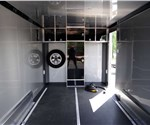 Custom Enclosed Two-Tone 7.5' x 16' Motorcycle Hauler