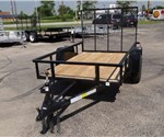 Open Black 5' x 8' Utility Trailer by U.S. Cargo – Forest River