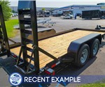 16' Sure-Trac Skid Steer Equipment Hauler - Recent Example