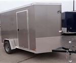 6' x 12' Light Pewter Metallic Enclosed Cargo Trailer with 2' Nose Wedge built by ATC
