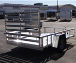 Open Aluminum 6' x 10' Utility Trailer by ATC with Aluminum Rims