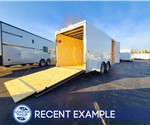 7'x16' Cross Cargo Trailer with Rear Ramp Door - Recent Example