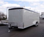 Custom 7' x 20' Gray Ministry Outreach Trailer