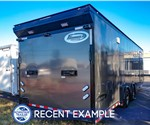 28-Foot Race Trailer - Formula Velocity - Charcoal (Recent Example)