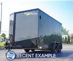 7'x14' Stealth Titan Motorcycle Trailer - Blackout (Recent Example)