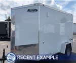 White 6' x 10' Enclosed Cargo Trailer