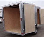 Enclosed Silver Frost 6' x 12' Cargo Trailer built by ATC