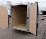 Enclosed Silver Frost 5' x 8' Cargo Trailer with 2' Nose Wedge