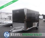 6' x 12' Charcoal Enclosed Cargo Trailer
