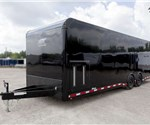 28' Enclosed Car Hauler with Black Gloss Exterior