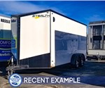 7'x16' Stealth Titan Enclosed Cargo Trailer (Recent Example)