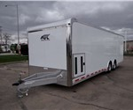 Enclosed White 8.5' x 28' ATC – Aluminum Trailer Company Car Hauler Trailer