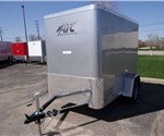 Enclosed Silver Frost 5' x 8' Cargo Trailer Built by the Aluminum Trailer Company
