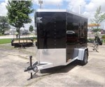 5' x 8' Black Cargo Trailer with 2' Wedge Nose