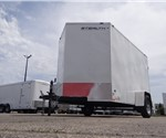 "6' x 10' Polar White Cargo Trailer with 24"" Wedge Nose"
