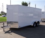 7' x 16' + 2' Wedge White Cargo Trailer
