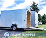 Stealth Mustang 6x12 Enclosed Cargo Trailer - Recent Example