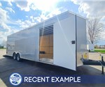 8.5'x28' Cross Car Hauler - Silver - Recent Example
