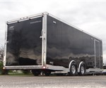 Enclosed Black 8.5' x 24' Car Hauling Trailer with Escape Door built by ATC