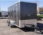 Enclosed Medium Charcoal 6' x 12' Cargo Trailer built by ATC – Aluminum Trailer Company