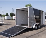 Enclosed 7' x 14' Aluminum Two-Tone Motorcycle Trailer