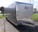 Enclosed 8.5' x 24' Silver Frost Car Hauler Plus Package Trailer built by ATC