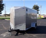 6' x 12' Pewter Cargo Trailer with Light Duty Rear Ramp Door