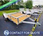 6.5'x10' MTI Aluminum Utility Trailer with Wood Deck