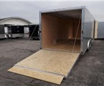 Enclosed 8.5' x 24' Silver Frost Car Hauling Trailer built by ATC