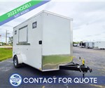 7'x12' Discovery Concession Trailer (White)