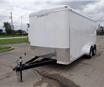 7' x 16' Enclosed Cargo Trailer with Rear Ramp Door