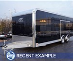 24' Aluminum Enclosed Car Hauler With Finished Interior