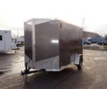 6' x 12' Charcoal Cargo Trailer with Light Duty Ramp