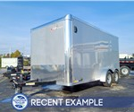 7'x14' Cross Cargo Trailer with Rear Ramp Door - Recent Example