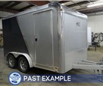 Custom 2-Tone Exterior Motorcycle Trailer - Past Example