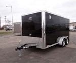 Enclosed 7' x 14' Aluminum Motorcycle Trailer