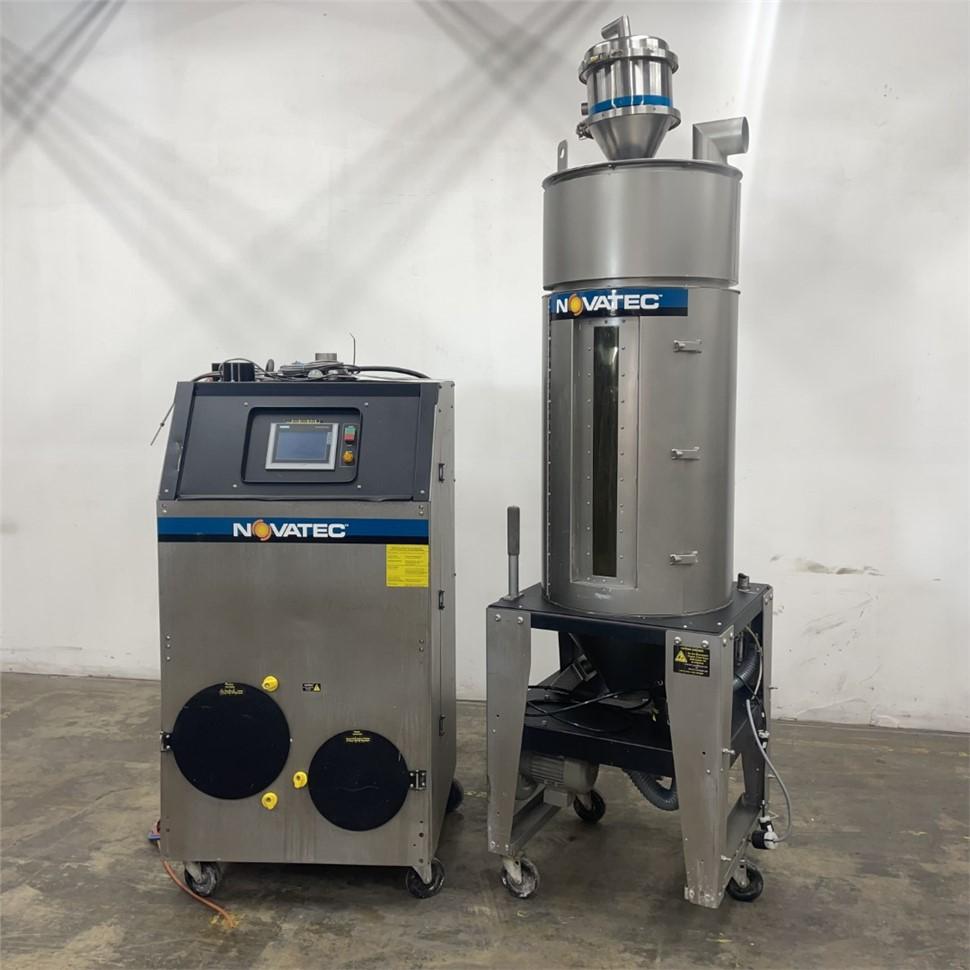 Used 150 LB/HR Novatec NWB-150-DC Desiccant Dryer With Hopper