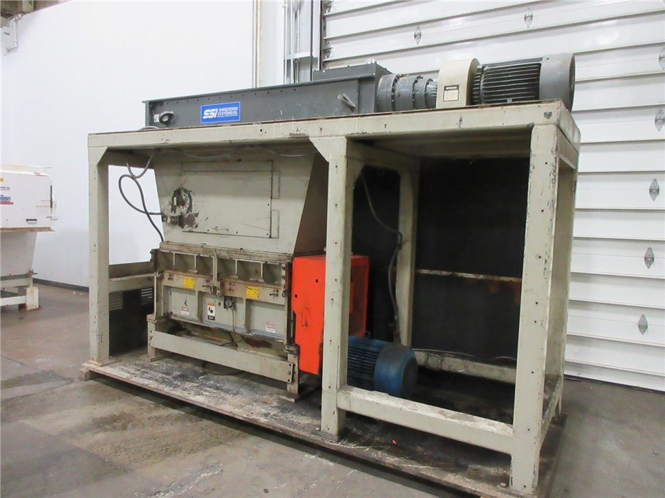 "SSI Shredder Model 25E/1200ESP & 14""x 56"" Cumberland 50HP Shredder/Granulator Combo"