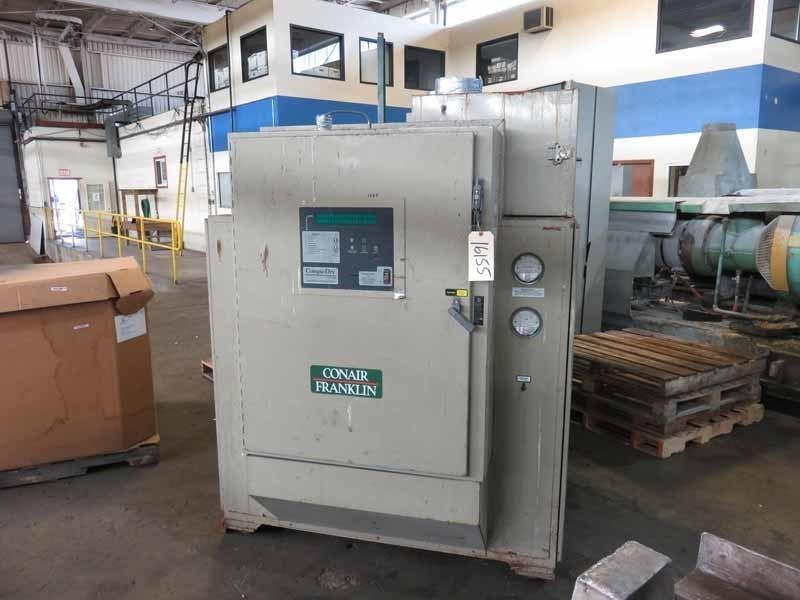 1,250 CFM Conair Model CD 1600 Desiccant Dryer, With 9,000 Lbs Hopper