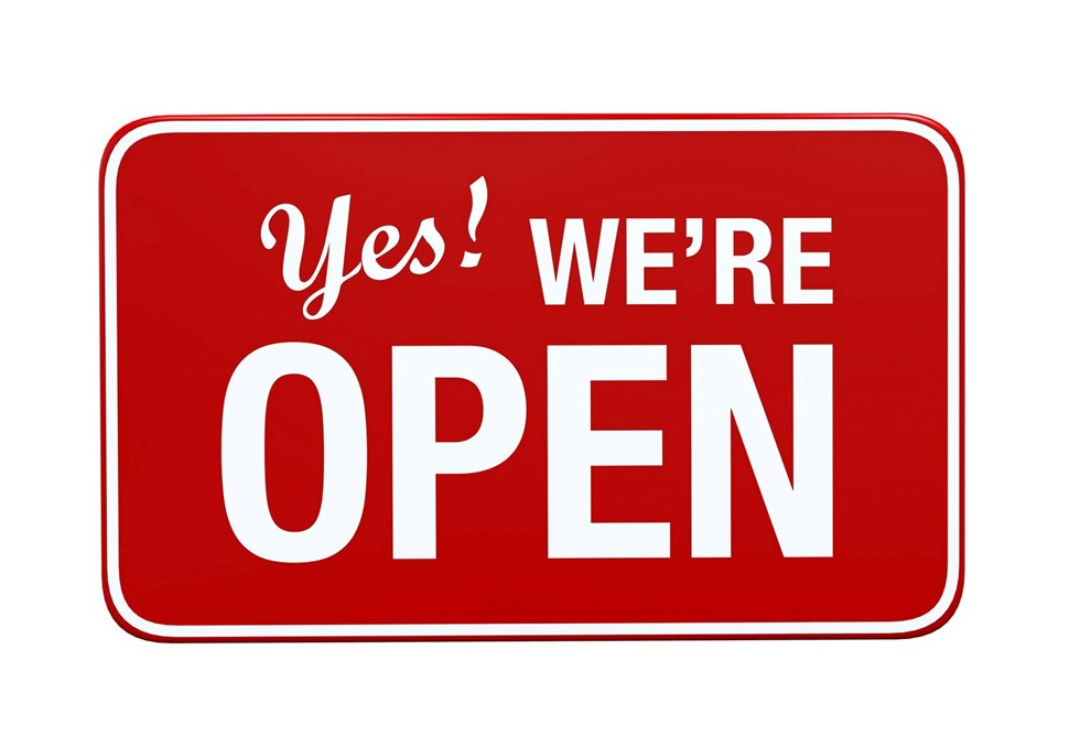 We are Open & Ready for Business!