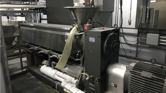 """3.5"""" American Kuhne Single Screw Extruder, 24:1 L/D, 75 Hp NEW IN 2016"""