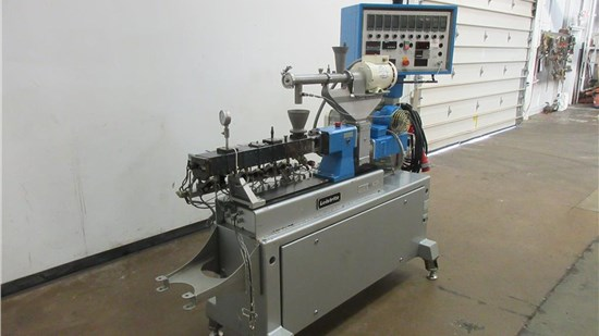 18mm Leistritz Micro Model 18GL35D Twin Screw Extruder,CO-Rotating 2.4KW