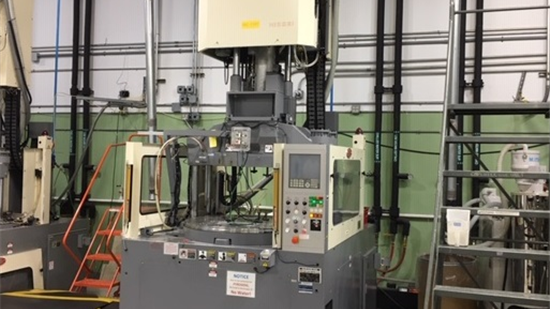 110 Ton Nissei Vertical Rotary Injection Molding Machine Model TH110RE-12VE, 3.4 Oz, New In 2005