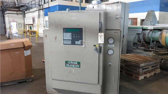 1,250 CFM Conair Model CD 1600 Desiccant Dryer, With 9,000 Lbs Hopper