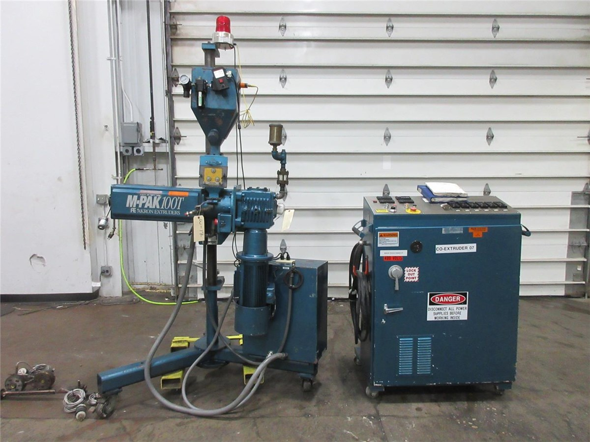 "Arlington Barber Shop >> 1"" Akron Pedestal Extruder, Model PAK100T, 24:1 L/D, Air Cooled,5 Hp 