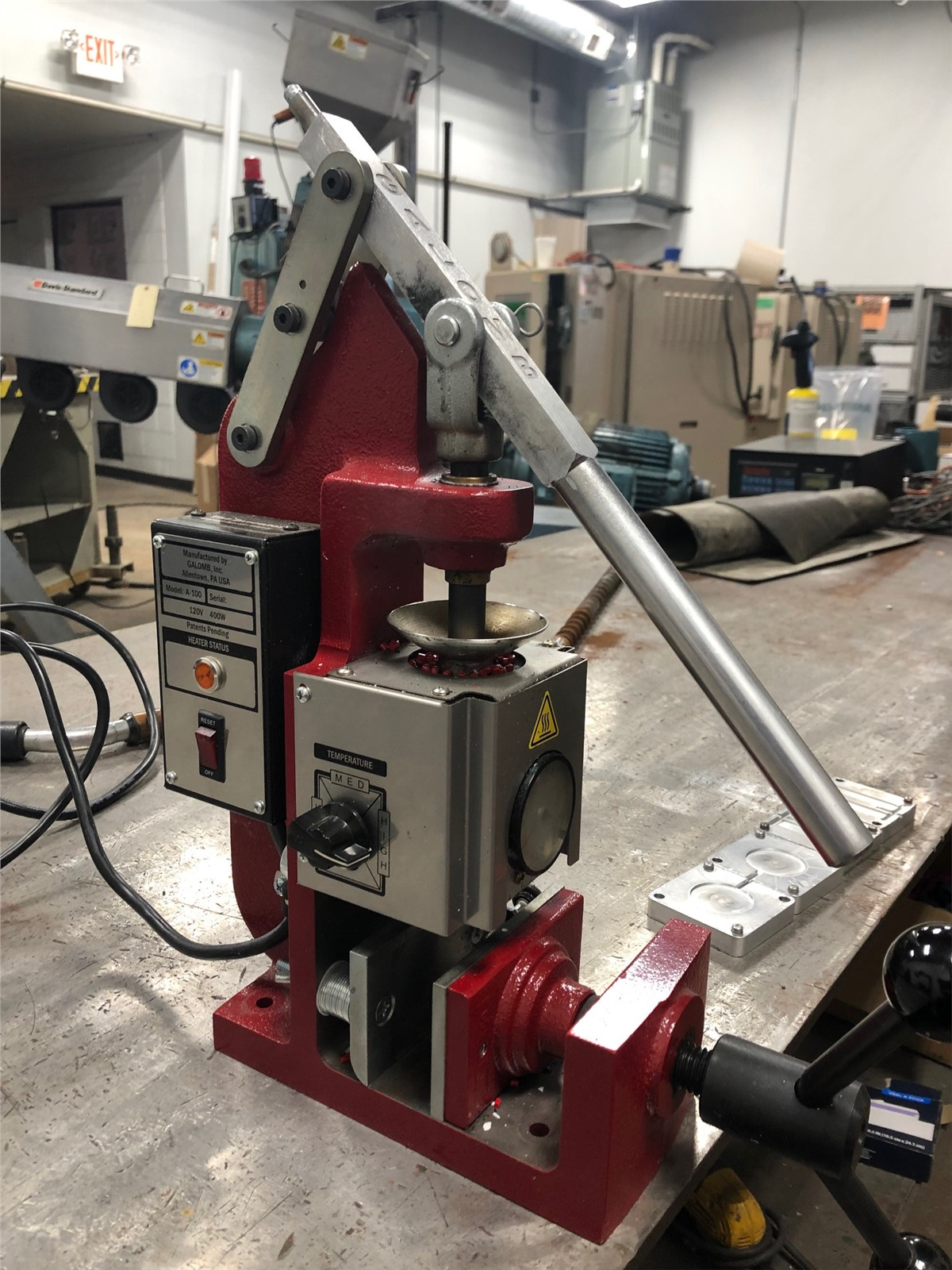 Galomb Lab Benchtop Injection Molding Machine, Model A-100 | Plastic