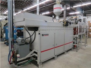 4.4 Lb. Dual Head Uniloy Blow Molding Machine, Model R-2000, New In 2005
